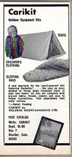 1973 Print Ad Carikit Outdoor Equipment Kits Tents,Sleeping Bags Boulder,CO