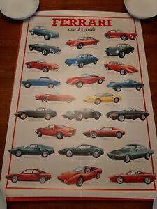 Vintage Ferrari 1984 ? Italian Poster/ Ferrari 328 GTB Poster printed in Italy