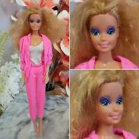 Vintage Barbie & the Rockers 1985 Doll Purple Eyeshadow Curly Blonde Hair