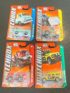 Matchbox 60th Anniversary Dodge Land Rover Tractor & Fire Truck MBX Vehicles x4
