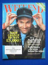 Weekend Magazine - Dwight Schultz, Faith Brown 29th Aug 1984