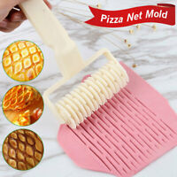 Cookie Pie Lattice Roller Pizza Bread Dough Pastry Cutter Kitchen Baking Tool