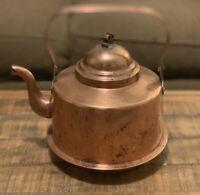 Wassbergs Bora Antique Swedish Copper Tea Kettle Folding Goose Neck Spout