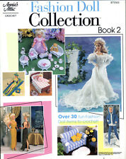 """FASHION DOLL COLLECTION BOOK 2""~Crochet PATTERNS for Barbie~30+Items~SEE PICS"