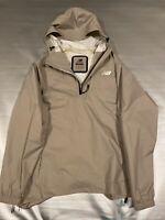 New Balance Men's Half Zip Luxe 247 Hooded Anorak Wind Rain Jacket MT83501 Tan M