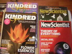 2 KINDRED SPIRIT AND 2 NEW SCIENTIST MAGAZINES