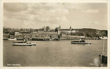 RPPC Postcard Oslo Akershus Bay and Fortress Norway