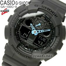 CASIO G-SHOCK MENS WATCH GA-100C-8A FREE EXPRESS DARK GRAY GA-100C-8ADR DIGITAL