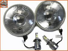 """7 """" paires PHARE AVANT avec feu latéral + H4 LED AMPOULES compatible"""