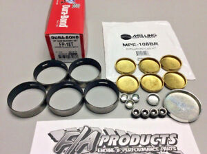 Ford 289 302 351W Dura-Bond FP18T COATED Cam Bearings + MPE-108BR BRASS Plugs