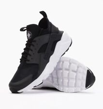 NIKE AIR HUARACHE RUN ULTRA TRAINERS, UK9, BLACK/WHITE/ANTHRACITE, 819685001, OG