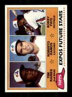 1981 Topps #479 /Tim Raines/Roberto Ramos/Bob Pate NM/NM+ RC Rookie Expos Expos