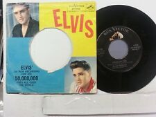 """ELVIS PRESLEY 45 RPM """"Stuck on You"""" & """"Fame and Fortune"""" original pic sleeve VG+"""