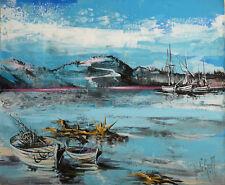 Jean LE GREC (1935-1990) HsT Années 70 Nle Ecole de Paris Jeune Peinture Suisse