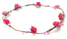 A Twin Pack Of Pretty Pink Enamelled Flower Hair Band//Bobbles