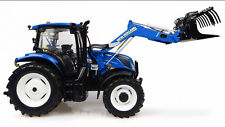 UNIVERSAL HOBBIES 1:32 TRATTORE NEW HOLLAND T6.145 WITH 740TL LOADER  ART  4956