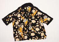 River Island Womens Black Floral Chiffon Basic Blouse Size 18  - Cold shoulder