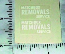 Matchbox Removals Van Replacement Stickers      MB-17A1