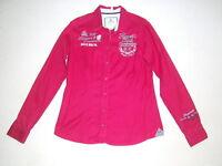 Bluse Damen SOCCX Hemdbluse mit Stickereien *L*Rot edel sehr selten getragen TOP