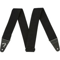 Fender Supersoft Strap Guitar Bass Strap, Black 2""