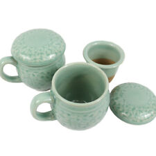US 2pcs Set Korean Ceramics Coffee Mug Celadon Teacup Brewing System for Home