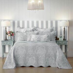 Bianca Florence Bedspread Set Grey
