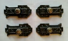 HTF SET OF 4 MATCHING ANTIQUE VICTORIAN CABINET LATCHES RESTORED READY TO USE