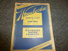 Waukesha 6SRS 6SRL 6SRLR 6SRK 6SRKR Engine 6SR Series Parts Catalog Manual M1582