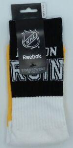 NHL Boston Bruins Reebok Men's Team Logo Crew Socks NEW!