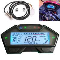 LCD Anzeigeinstrument 12V Motorrad Tacho mph km/h Tankanzeige LED-Anzeigeleuchte