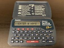 Franklin Websters Spelling Corrector Plus Model Ncs-101