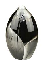 Lacquerware Decorative Vase - Black Leaf Design