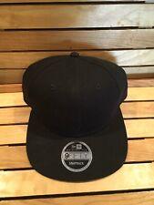 New Era 9Fifty Snapback Plain Black Cap Hat Blank