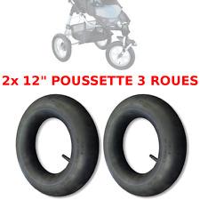 "2x CHAMBRE A AIR POUSSETTE 3 ROUES 12"" TYPE HIGH TREK 1ère GENERATION NEUF"