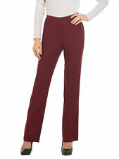 Red Hanger Womens Bootcut Stretch Dress Pants - Comfy Pull on Style Burgundy Large