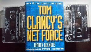 Tom Clancy's Net Force: Hidden Agendas - Audiobook 2 x Cassettes 1999