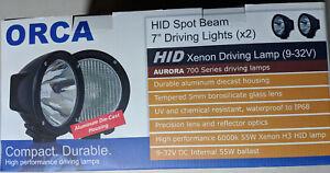 "7"" HID Xenon 4x4 4WD Hunting Flood Lights Spot Beam 6000K ORCA (pair)"