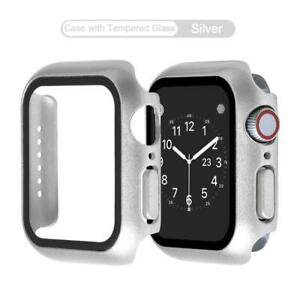 For Apple Glass Bumper Case Watch Series 6/5/4/SE40/44mm Full Screen Protector