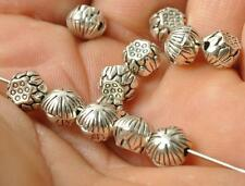 30pcs Tibetan silver lotus charm bead Findings Spacer Beads 7mm
