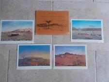 4 Vintage 1978 Prints Australian Landscape Paintings by Jack Absalom Broken Hill