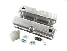 Small Block Ford 289 302 Valve Cover Ball Milled Tall Polished Aluminum BPE-2204