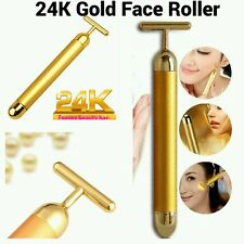 Skin Lifting Derma Roller 24k Gold Facial Massage Wrinkle Skincare BEAUTY BAR
