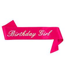 Birthday Girl Schärpe - Geburtstag Jubiläum Feier Party Accessoire Pink