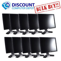 "Dell LCD Computer Monitor Lot of 10 17"" LCD Display VGA and Power Cable"