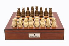 New Medieval walnut chess checkers combination Dal Rossi Board game