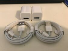 2pcs NEW! Original Genuine OEM Lightning Cable iPhone Charger Block Wall Charger