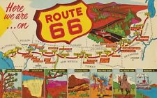 """Route 66 """"Here We Are""""  Vintage-50's Style Travel Decal"""