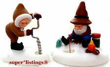Dept. 56 This Looks Like A Good Spot Set of 2 Retired North Pole 56831
