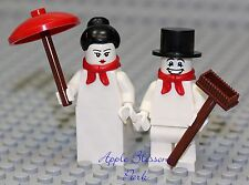 NEW Lego Christmas MR & MRS SNOWMAN Minifigs -Frosty Santa Helper Minifigures