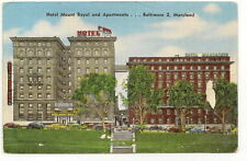 BALTIMORE MD Hotel Mount Royal & Apartments Vtg PC
